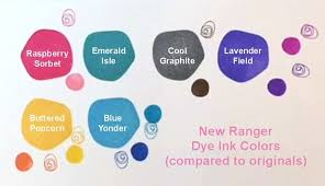 Ranger 6 New Dye Ink Pads Color Chart Comparison Ink Pads