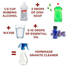 ings to make homemade granite cleaner