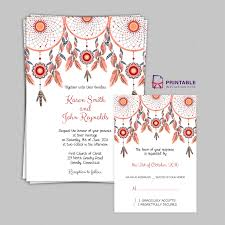free pdf boho theme dreamcatchers wedding invitation and rsvp Editable Pdf Wedding Invitations free pdf boho theme dreamcatchers wedding invitation and rsvp templates free to download, easy downloadable editable wedding invitations