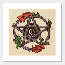 Wiccan Element Chart Pentagram