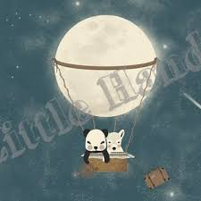 moon trip by little hands wallpaper