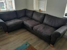 brown scs 6 seater foam corner sofa with footstool and fabric guard protection was 1299 in newcastle tyne and wear gumtree