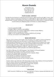 Wonderfull Design Personal Assistant Resume Sample Personal