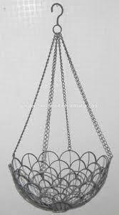 wholesale handicraft garden supplies growing flower pot wire plants hanging  basket