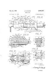 bench vice specification. patent drawing bench vice specification e