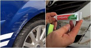 how to fix surface car scratches by a of toothpaste