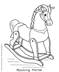 Small Picture Toy Animal Coloring Pages Toy Rocking Horse Coloring Page and