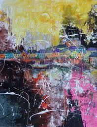 the pier original modern contemporary abstract painting