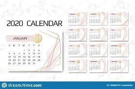 12 Week Calendar Template Calendar 2020 Template 12 Months Design With Geometrical