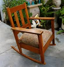 antique stickley arts and crafts mission style oak rocker with rocking chair styles 662567b4efdcbb1a5320e1b7e54