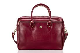genuine leather women s laptop bag marina red to zoom