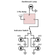 pin led flasher relay wiring diagram wiring diagram and wigwag flashing lights positive input output 4 pin flasher relay wiring diagram