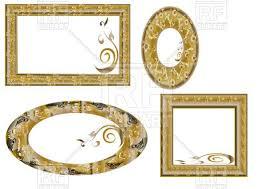 ornate gold frame border. Unique Ornate Ornate Golden Picture Frames  Square And Oval Vector Image U2013  Artwork Of Borders  On Gold Frame Border R