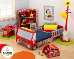 Kids Bedroom Furniture For Girls Amazoncom Kidkraft Fire Truck Toddler Bed Toys Games