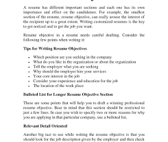 Writing Resume Objective Resume Reference