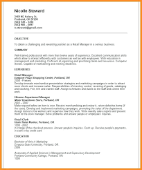 Resume Objective For Retail Stunning Retail Resume Objective Examples Kenicandlecomfortzone