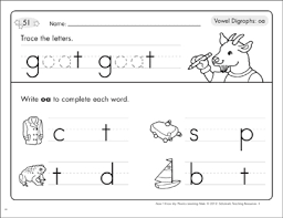 Designed for a first grade reading and writing curriculum, this resource. Vowel Digraphs Oa Phonics Learning Mats Printable Skills Sheets