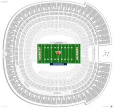 Chargers Stadium Seating Chart Sdccu Stadium San Diego State Seating Guide