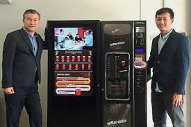 Vending Machine Codes 2017 Gorgeous VBarista Coffee Vending Machine In Malaysia Accepts QR Code Payments