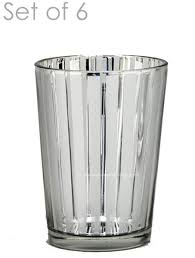 mercury glass candle holders destiny medium set of 6 3 3
