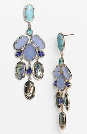 kendra scott kyra mixed stone chandelier earrings in gold