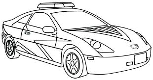 Police Cars Coloring Pages A Police Car Coloring Pages