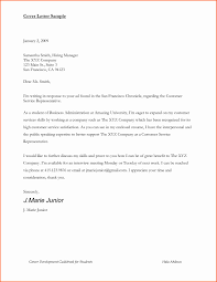 Business Resume Cover Letter Cover Letter Samples for Business Students Adriangatton 32