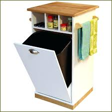 Hidden Trash Cabinet Garbage Can Plans