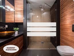 Aufkleber Glasdekor Dusche Sichtschutz 021b 3 Streifen Folie Bad