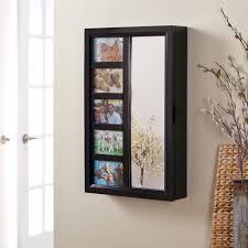 photo frames wall mount jewelry armoire mirror espresso 16w x 24h in com