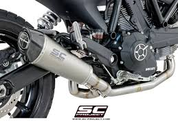 sc project shop ducati scrambler 400 full system 2 1 with