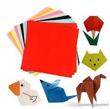 Wholesale Children 10colours Handmade Multicolour Paper Diy Kirigami Paper Cutting Arts 100 Pcs 10 Colours 10 Pieces