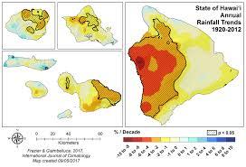 Hawaii Rainfall Chart Rainfall Atlas Of Hawaii Rainfall