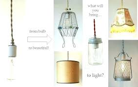 string pendant light lights cloth cord swag kits make anything into a diy string pendant light