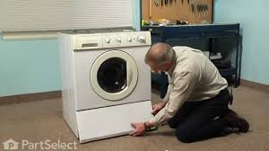 Cleaning Front Load Washing Machine Washing Machine Repair Replacing The Drain Pump Frigidaire Part