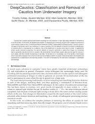 Underwater Light Maya Pdf Download Pdf Deepcaustics Classification And Removal Of Caustics