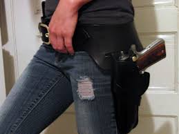 Leather Magazine Holder Gun Stunning Custom Made Black Gunslinger Rig With Double Magazine Pouch Western