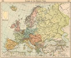 Vintage map of Europe