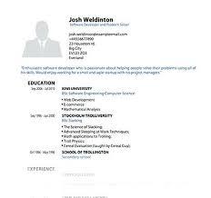 Pdf Resume Format Resume Template Fancy Blues Wide Standard Resume ...