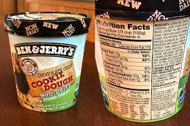 ben jerry s non dairy chocolate chip cookie dough nutritional info