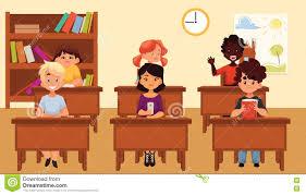 classroom table vector. royalty-free vector classroom table e