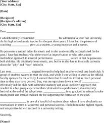 Recommendation Letter For Student Scholarship Sample Recommendation