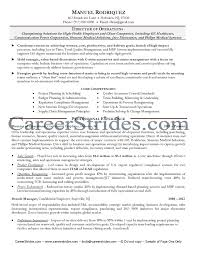 Director of Operations Resume director of operations resume samples