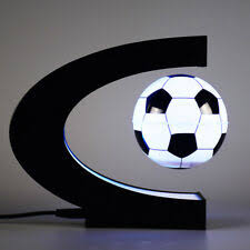 <b>LED C Shape</b> Football <b>Night Light</b> Decoration Magnetic Levitation ...