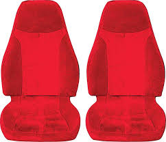 1993 96 camaro with solid rear seat red red encore velour upholstery set