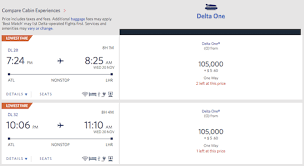 Delta Frequent Flyer Award Chart Delta Raises Business Class Award Costs To Europe One Mile