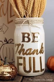 a gorgeous thanksgiving mason jar that you can make this fall