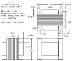 transformer electrical step down va v output for foam 150 watt transformer dimensional drawing photo xfr15 dwg zps5b392d79 gif