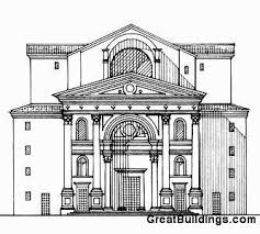 architecture building drawing. Great Buildings Drawing - S. Andrea Architecture Building Drawing