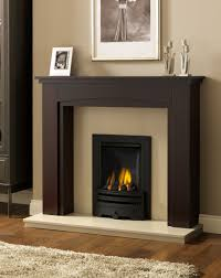 image of wooden fireplace mantel shelves